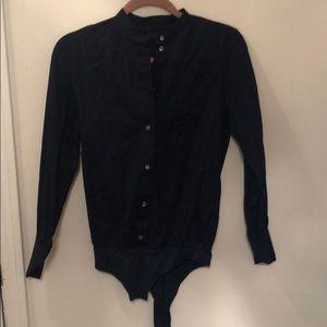 JCrew Blue Button Down Bodysuit